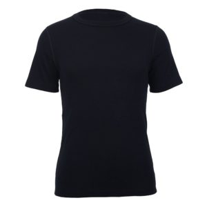 Unisex Short Sleeve Crew Neck - Black