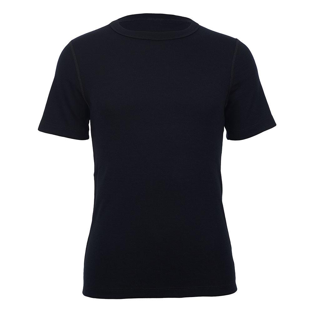 Merino Skins - Crew Neck T Shirt - Wool Interlock - Black