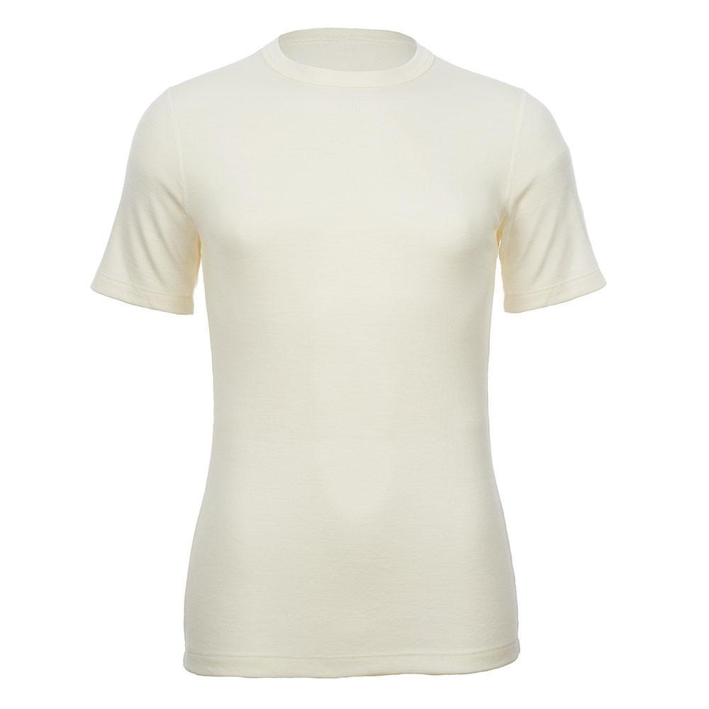 Merino Skins - Crew Neck T Shirt - Wool Interlock - Natural