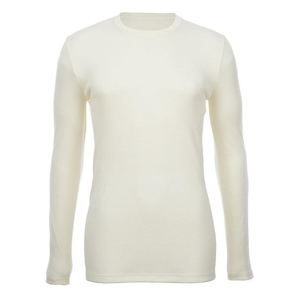Merino Skins - Crew Neck Long Sleeve - Wool Interlock - Natural