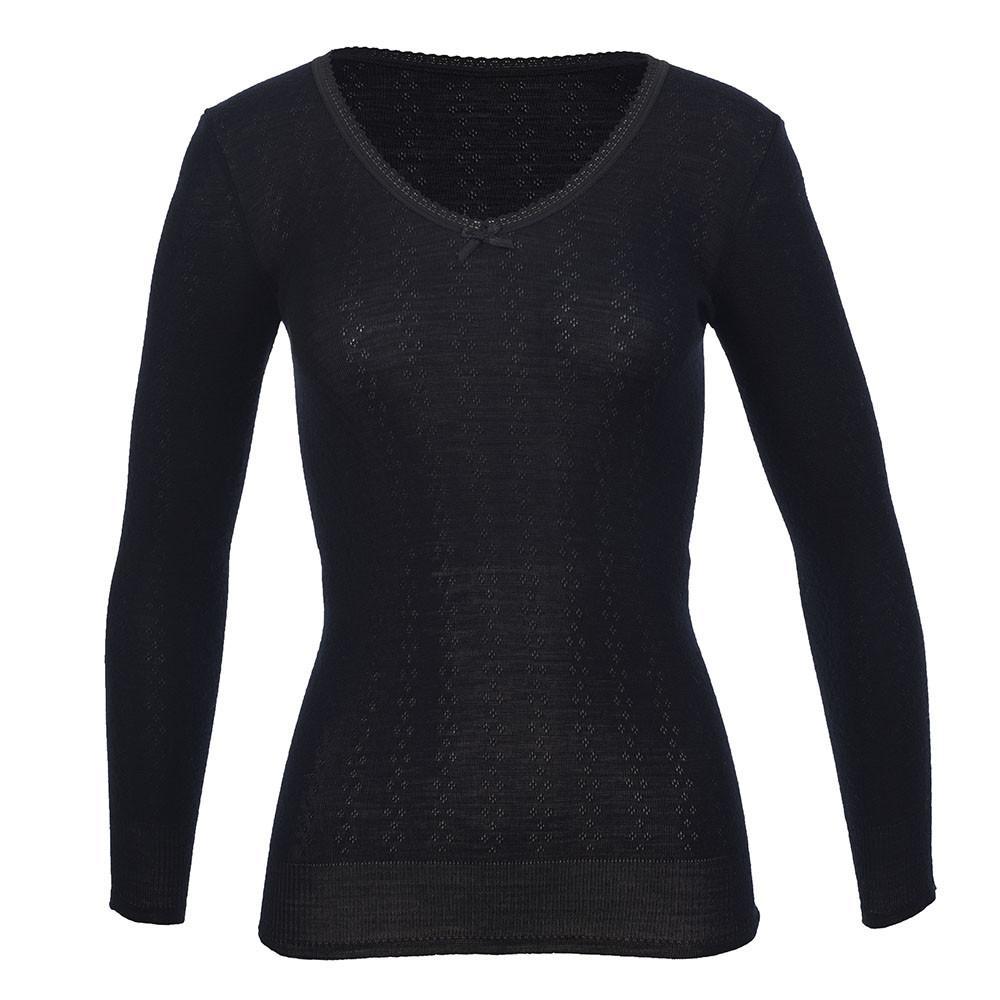 Thermo Fleece Merino RTRLV V Neck BLACK