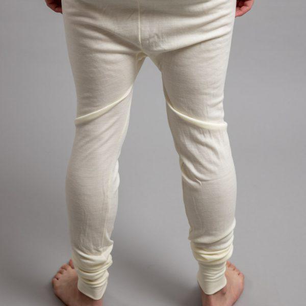 Rearview of white Thermo Fleece – Men's Long John – 100% Merino