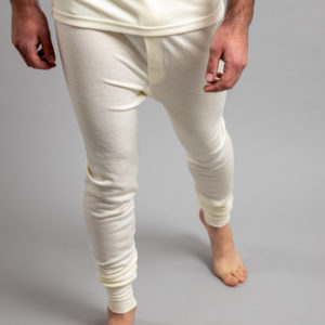Front view of white Thermo Fleece – Men's Long John – 100% Merino