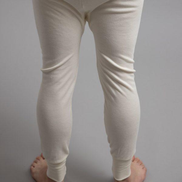 Rear view of white Thermo Fleece – Men's Long John – Rich Merino Blend