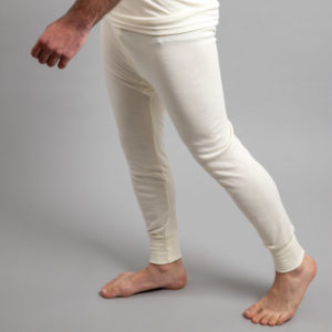 Side view of white Thermo Fleece – Men's Long John – Rich Merino Blend