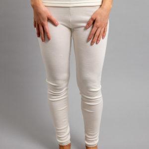 Front view of white Thermo Fleece – Ladies Long John - Rich Merino