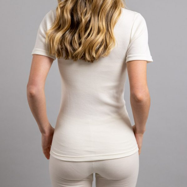 Rear view of Thermo Fleece – Ladies Short Sleeve – Round Neck