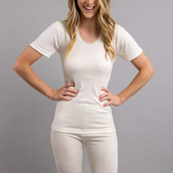 Front view of Thermo Fleece – Ladies Short Sleeve – Round Neck